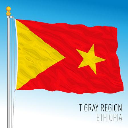 Tigray regional flag, Republic of Ethiopia, vector illustration Vettoriali