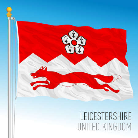 Leicestershire county flag, United Kingdom, vector illustration