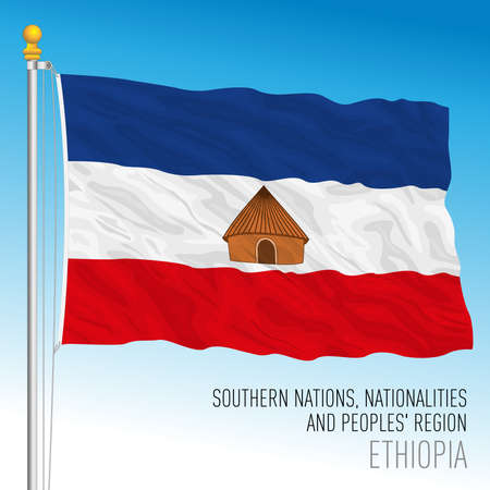 Southern Nations, Nationalities, and Peoples' Region regional flag, Republic of Ethiopia, vector illustration