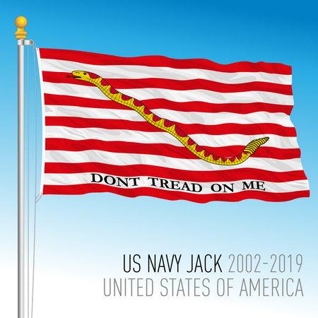 United States navy flag, jack, USA, vector illustration Vettoriali