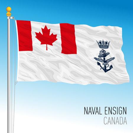Canadian navy flag, Canada, vector illustration Vettoriali
