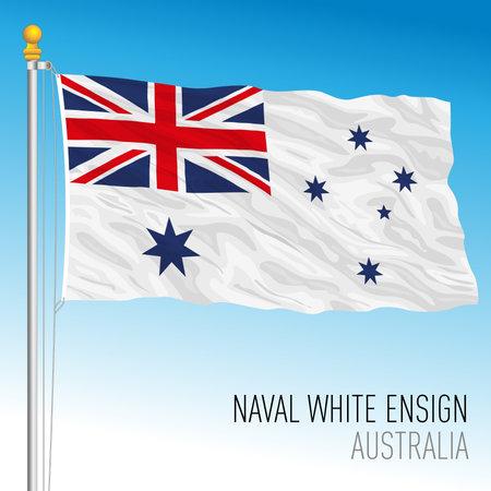Australian navy flag, Australia, vector illustration