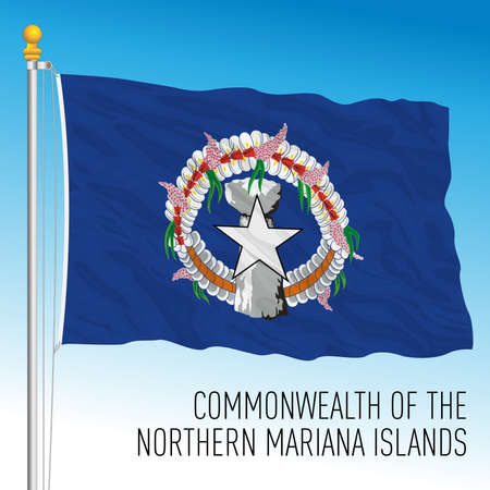Commonwealth of the Northern Mariana islands state flag, United States territory, vector illustration Archivio Fotografico - 162759231