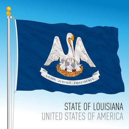 Louisiana federal state flag, United States, vector illustration Archivio Fotografico - 162759232