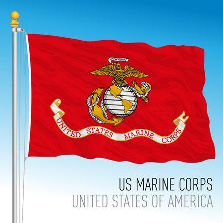 US Marine Corps flag, United States, vector illustration Archivio Fotografico - 162759234