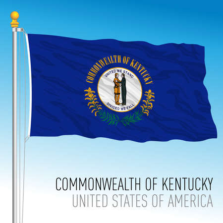 Kentucky federal state flag, United States, vector illustration Archivio Fotografico - 162759236