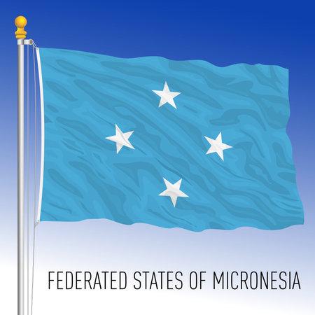Federates States of Micronesia flag, country of oceania, vector illustration Archivio Fotografico - 162790259