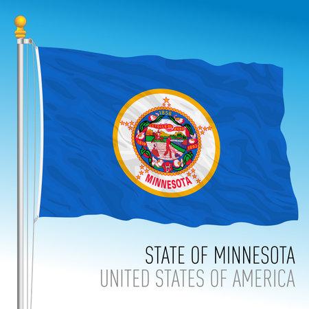 Minnesota federal state flag, United States, vector illustration Archivio Fotografico - 162869424