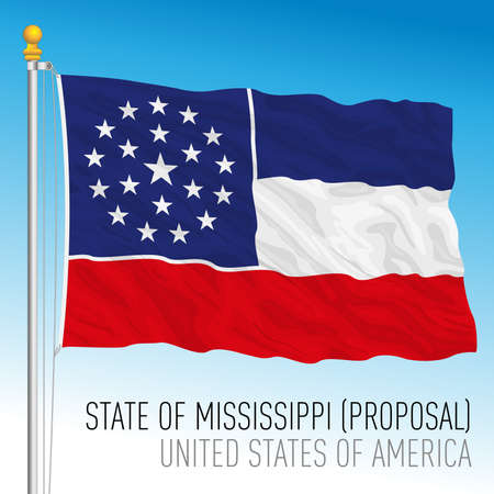 Mississippi federal state flag proposal, United States, vector illustration Archivio Fotografico - 162869425