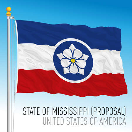Mississippi federal state flag proposal, United States, vector illustration Archivio Fotografico - 162869431