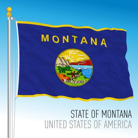 Montana federal state flag, United States, vector illustration Archivio Fotografico - 162869433
