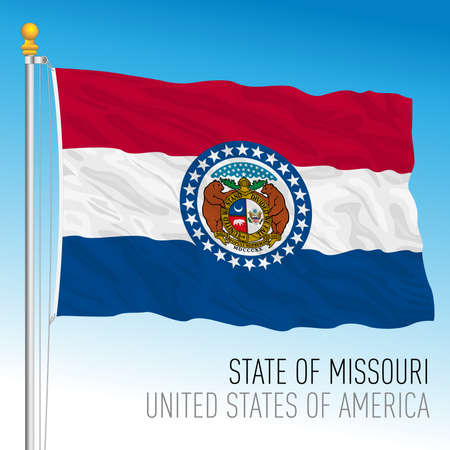 Missouri federal state flag, United States, vector illustration Archivio Fotografico - 162869436