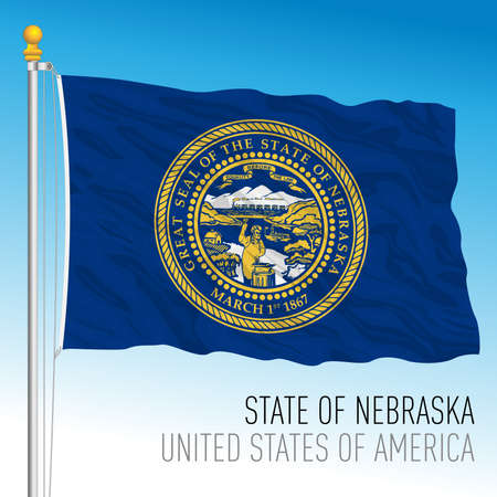 Nebraska federal state flag, United States, vector illustration Archivio Fotografico - 162950664