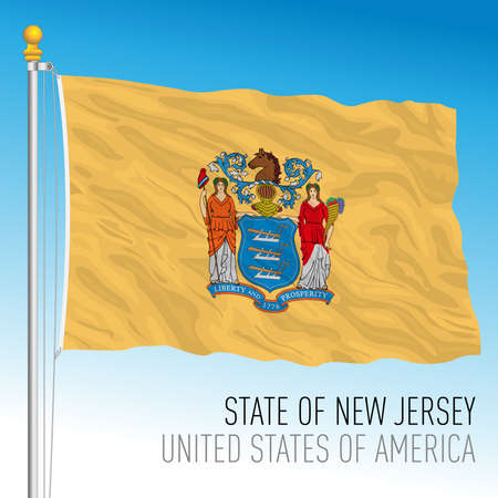 New Jersey federal state flag, United States, vector illustration Archivio Fotografico - 162950667