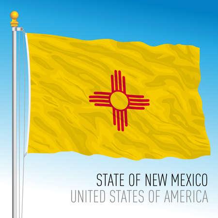 New Mexico federal state flag, United States, vector illustration Archivio Fotografico - 163010205
