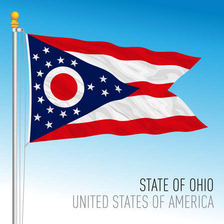 Ohio federal state flag, United States, vector illustration Archivio Fotografico - 163010221