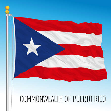 Commonwealth of Puerto Rico flag, United States, vector illustration Archivio Fotografico - 163043253