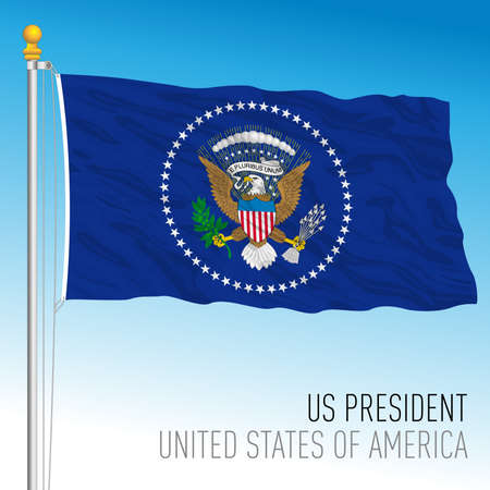 US Presidential flag, United States, vector illustration Archivio Fotografico - 163126685