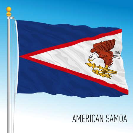 US American Samoa territory flag, United States, vector illustration Archivio Fotografico - 163126686