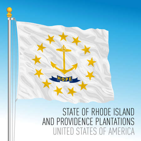 Rhode Island federal state flag, United States, vector illustration Archivio Fotografico - 163126687