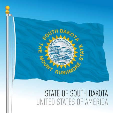 South Dakota federal state flag, United States, vector illustration Archivio Fotografico - 163155057