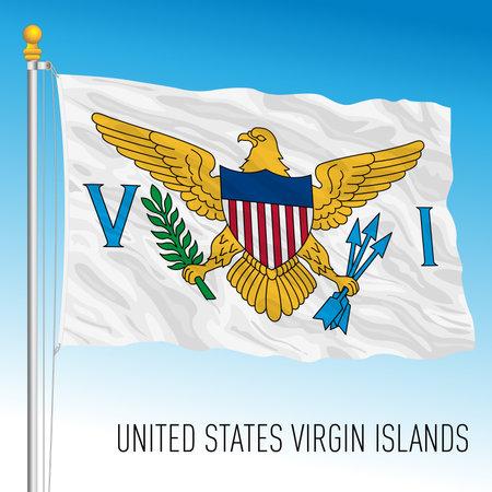 US Virgin Islands territory flag, United States, vector illustration Archivio Fotografico - 163200823