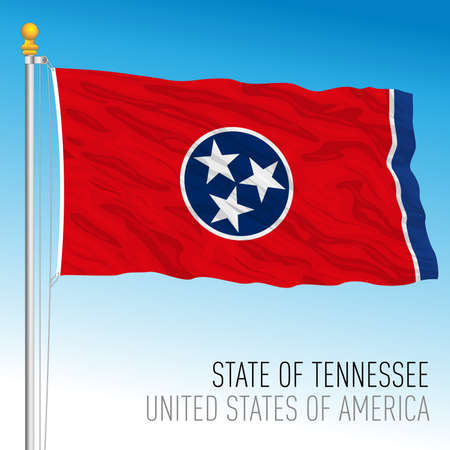 Tennessee federal state flag, United States, vector illustration Archivio Fotografico - 163200829