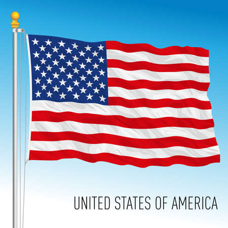 United States of America flag, USA, vector illustration