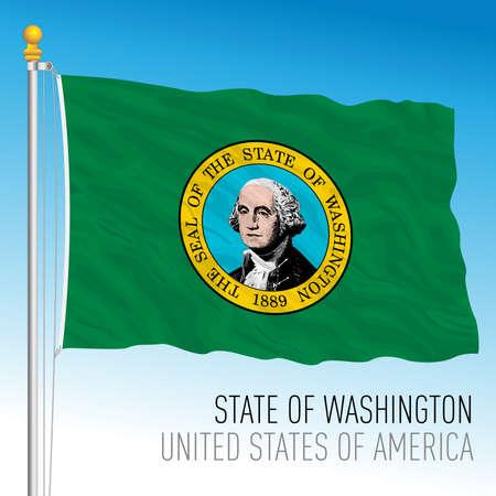 Washington federal state flag, United States, vector illustration Archivio Fotografico - 163261724