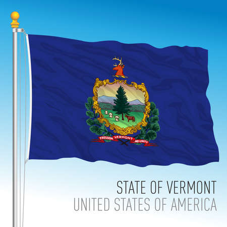 Vermont federal state flag, United States, vector illustration Archivio Fotografico - 163261725