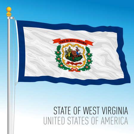 West Virginia federal state flag, United States, vector illustration Archivio Fotografico - 163261726