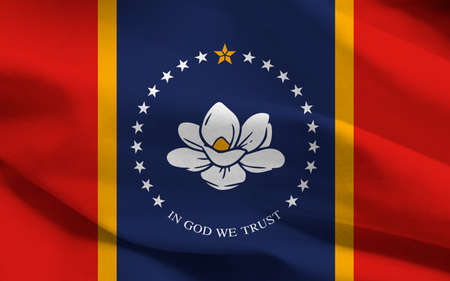 Mississippi new federal state flag, 2020, United States, graphic illustration Archivio Fotografico - 163261727