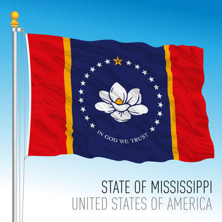 Mississippi new federal state flag, 2020, United States, vector illustration Archivio Fotografico - 163261729