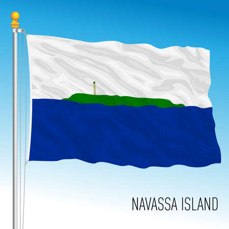 Navassa island flag, United States territory, vector illustration