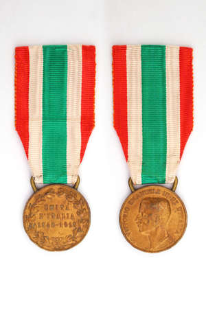 Commemorative bronze medal of the Unification of Italy, 1848 - 1918