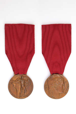 Medal of merit for the volunteers of the 1940-45 War, Italy, vintage Archivio Fotografico - 163832175