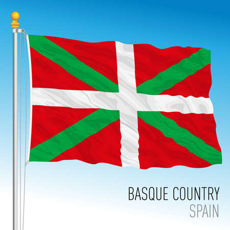 Basque Country regional flag, autonomous community of Spain, European Union