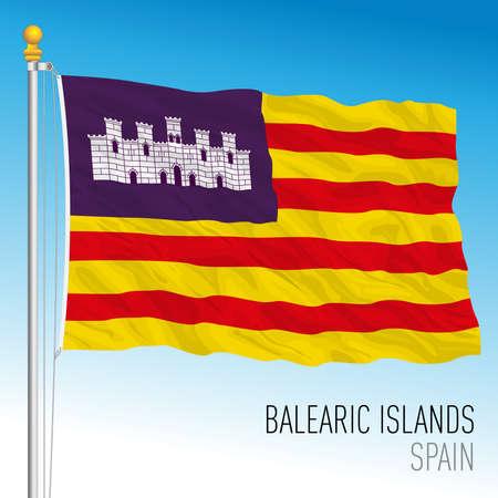 Balearic Islands regional flag, autonomous community of Spain, European Union