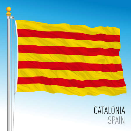 Catalonia regional flag, autonomous community of Spain, European Union Archivio Fotografico - 164161194