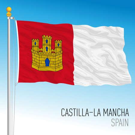 Castilla La Mancha regional flag, autonomous community of Spain, European Union Archivio Fotografico - 164161195