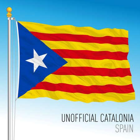 Catalonia independentist flag, community of Spain Archivio Fotografico - 164161198