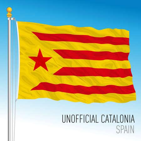 Catalonia independentist flag, community of Spain Archivio Fotografico - 164161199
