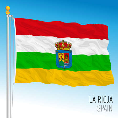 La Rioja regional flag, autonomous community of Spain, European Union, vector illustration