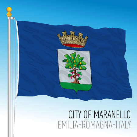 Flag of the city of Maranello, Modena, Emilia-Romagna, Italy, vector illustration