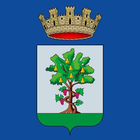 Coat of arms of the city of Maranello, Modena, Emilia-Romagna, Italy, vector illustration