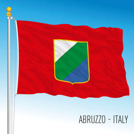 Abruzzo, flag of the region, Italian Republic, vector illustration Vettoriali