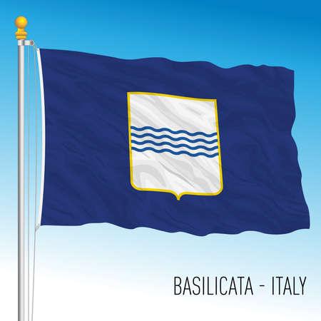 Basilicata, flag of the region, Italian Republic, vector illustration