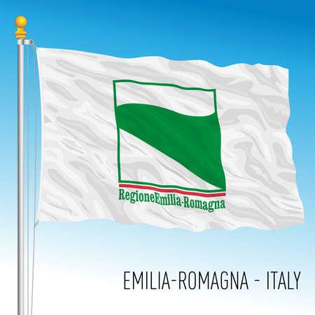 Emilia Romagna, flag of the region, Italian Republic, vector illustration