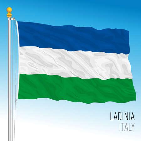 Ladinia territory flag, north Italy, Italian Republic, vector illustration