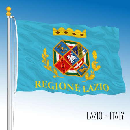 Lazio, flag of the region, Italian Republic, vector illustration